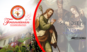 Live Mass: Solemnity of St. Joseph Spouse of the Blessed Virgin Mary