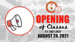 Start of Classes (Basic Education Department)